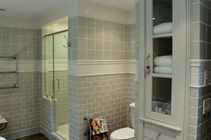 bathroom linen closet. Built In Linen Cabinet  Transitional bathroom Talk of The House
