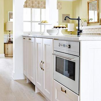 Island Oven, Transitional, kitchen, Farrow and Ball Pale Hound, Sarah Richardson Design