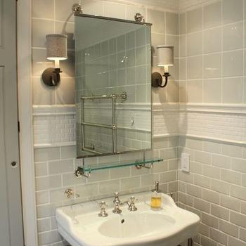 Gray Subway Tiles, Transitional, bathroom, Talk of The House