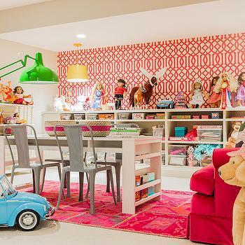 Basement Playroom, Contemporary, basement, Hudson Interior Designs