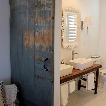 Bathroom Barn Door, Eclectic, bathroom