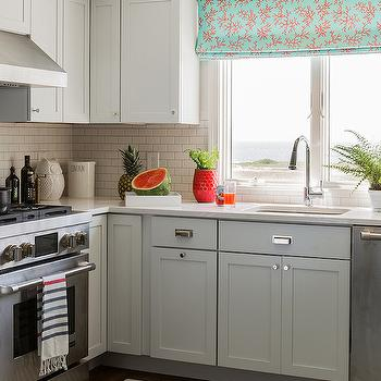 Gray Cabinets, Contemporary, kitchen, Katie Rosenfeld Design