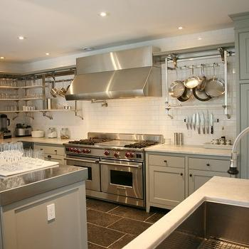 Grey Kitchen, Cottage, kitchen, Inn at Little Pond