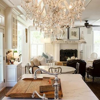 Round Prep Sink, French, kitchen, Benjamin Moore Ballet White, Apartment Therapy