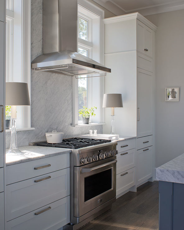 Grey Owl Kitchen: Light Gray Cabinets