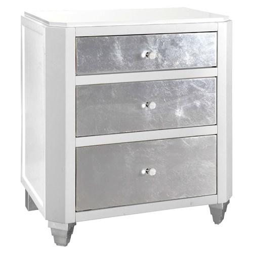 bungalow 5 mame 3 silver drawers white side table bungalow 5 white lacquered