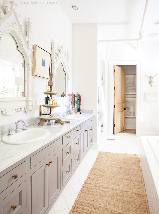 Quatrefoil Tiles Transitional Bathroom Sophie Burke