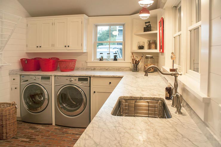 Brick Laundry Room Floor Cottage Laundry Room Smith