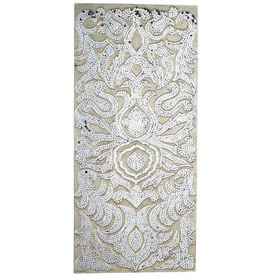 Mirrored Damask Champagne Panel