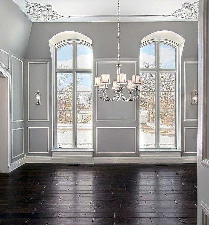 Arched windows traditional dining room blank and baker for Dining room windows