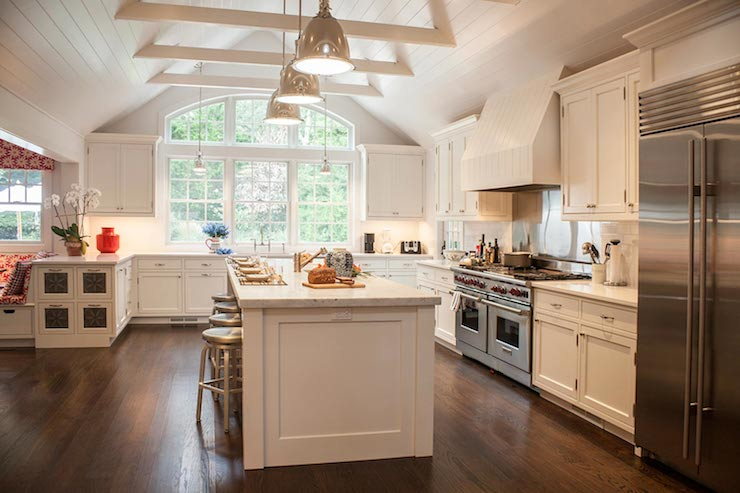 cathedral ceiling kitchen transitional kitchen smith river kitchens. Black Bedroom Furniture Sets. Home Design Ideas