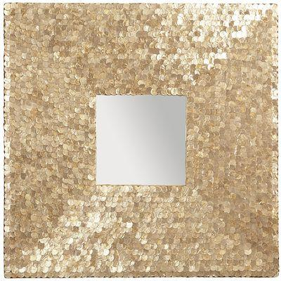 Golden Capiz Square Wall Decor
