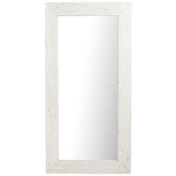 Mother-Of-Pearl Ivory Floor Mirror