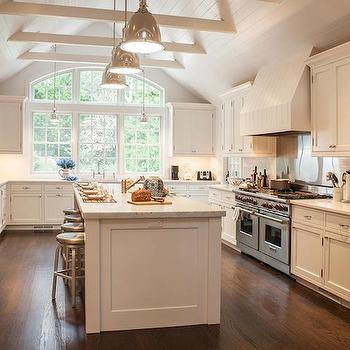 exposed wood beams transitional kitchen christine curry design. Black Bedroom Furniture Sets. Home Design Ideas