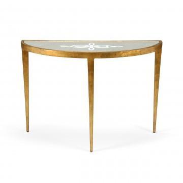 vixen gold semi circle console table