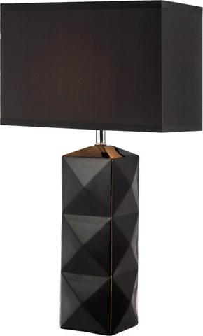 Amazing Chelsea Black Geometric Faceted Table Lamp