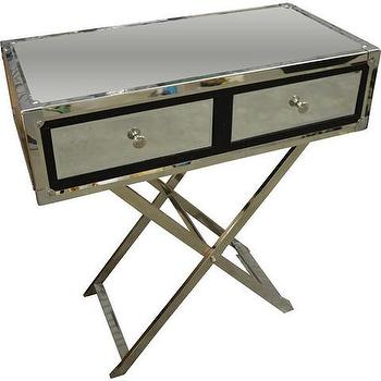 George Mirrored X Base Table, Vielle and Frances