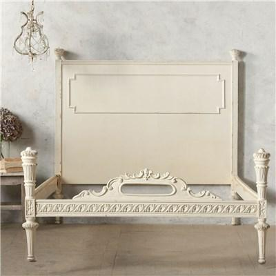 Eloquence one of a kind vintage full bed carved white bed for One of a kind beds