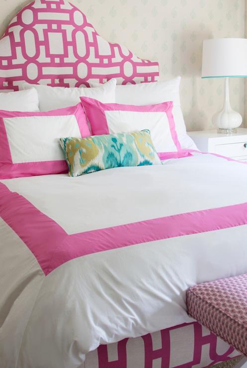 Pink Border Bedding Contemporary Girl S Room Annette