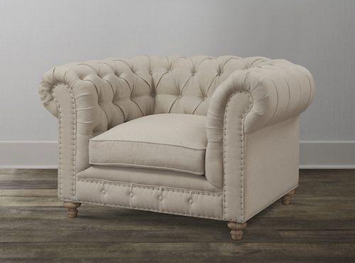 Restoration Hardware The Petite Kensington Upholstered Chair Look