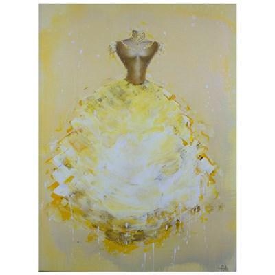 Isabella Yellow Acrylic on Canvas Art