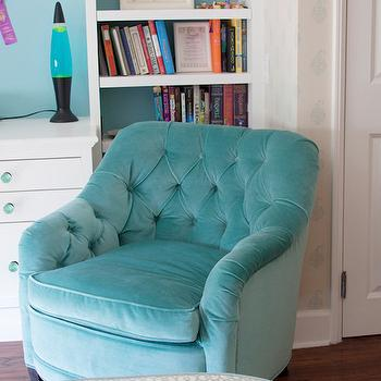 Turquoise Tufted Chair