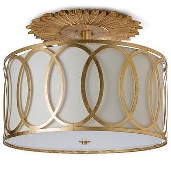 Regina Andrew Modern Luxe Gold Ceiling Mount I Zinc Door