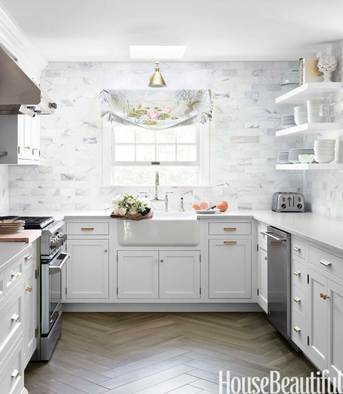 Kitchen Floor Tiles For White Cabinets: Silestone Lagoon