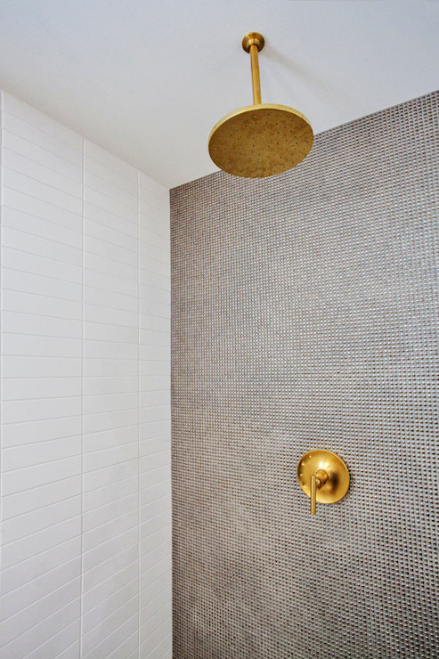 gold rain shower head. Gold Rain Shower Head  Contemporary bathroom Madison Taylor