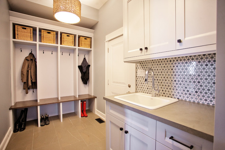 Mudroom Laundry Room Contemporary Laundry Room Madison