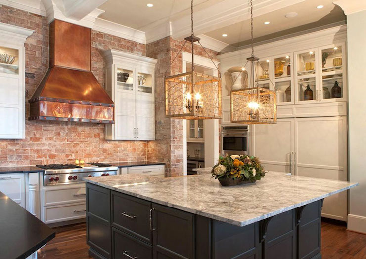 Copper Range Hood  Transitional  kitchen  Pheasant Hill Design