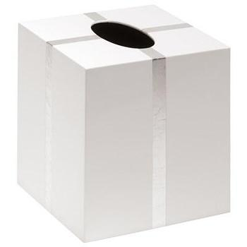 Bungalow 5 Chiffany White Tissue Box Holder I Layla Grayce