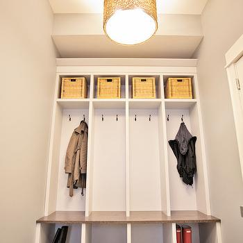 Mud Room Open Lockers Design Ideas
