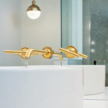 Brushed Gold Faucet, Contemporary, bathroom, Madison Taylor Design