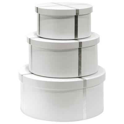 Bungalow 5 Chiffany White Round Nesting Box Set
