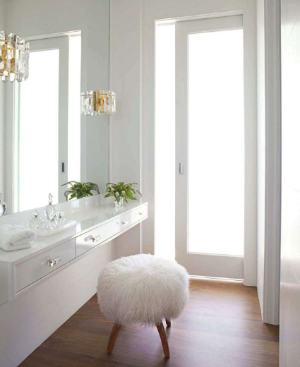 Floating Vanity Contemporary Bathroom House Beautiful