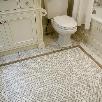 herringbone bathroom floor. Marble Herringbone Tiles Tiled Floor Design Ideas