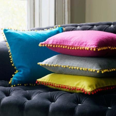 Felt Gypsy Pom Pom Trim Cushions