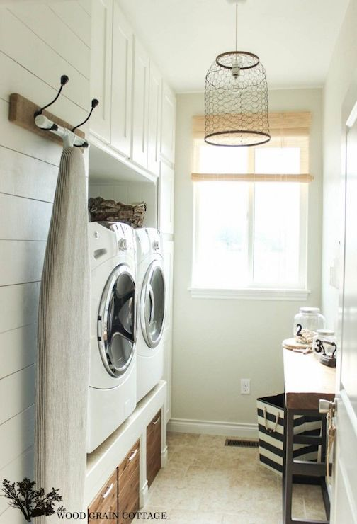 Chicken Wire Pendant Cottage Laundry Room The Wood