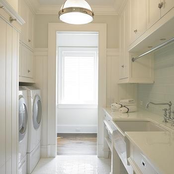 Galley Laundry Room, Transitional, laundry room, Brooks & Falotico