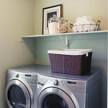 shelf over washer dryer design ideas. Black Bedroom Furniture Sets. Home Design Ideas