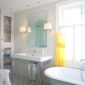 Gray Bathtub, Vintage, bathroom, Interior Magasinet