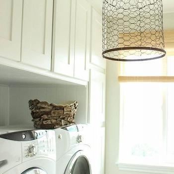 Wood And Chicken Wire Hallway Lanterns Design Ideas