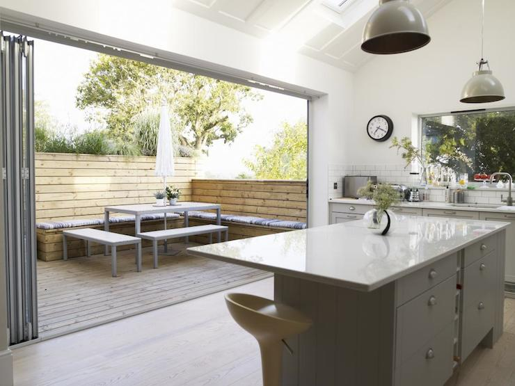 Folding Patio Doors Contemporary Kitchen Jj Locations