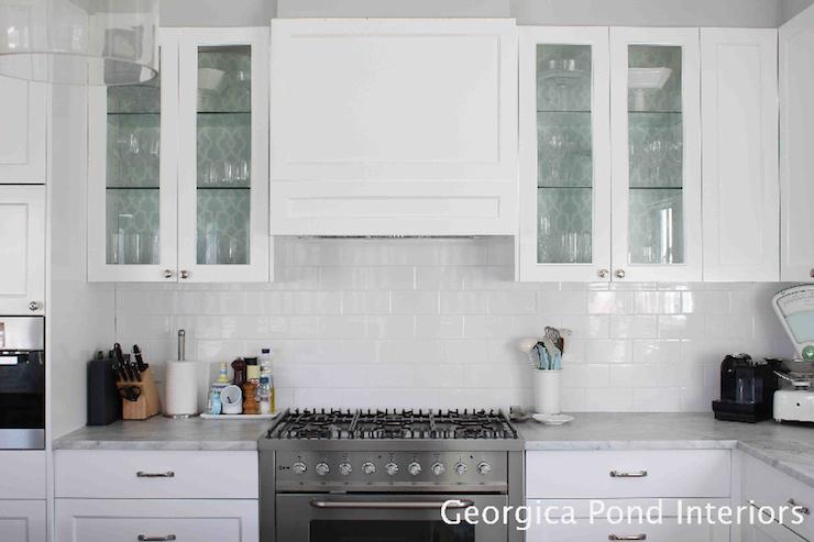 wallpaper cabinets kitchen georgica pond interiors