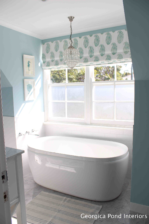 Bathtub Nook Transitional Bathroom Georgica Pond