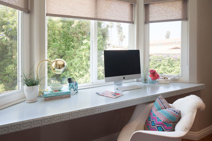 Bay Window Desk Eclectic denlibraryoffice Refinery 29