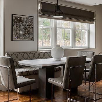 Gray Dining Room, Contemporary, dining room, Eric Roseff Design