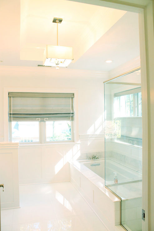 Shower attached to tub design ideas for Attached bathroom designs