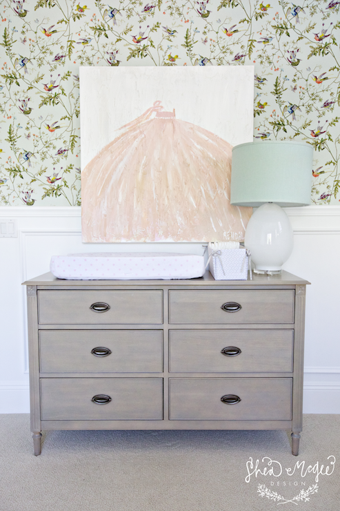 Gray Changing Table